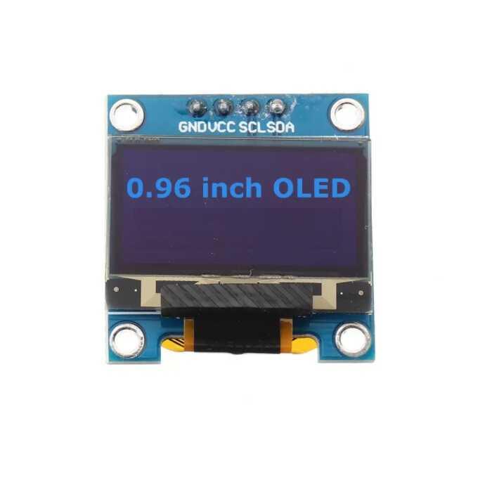 0.96 inch I2C OLED Ekran 128x64-Mavi/Siyah