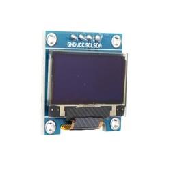 0.96 inch I2C OLED Ekran 128x64-Mavi/Siyah - Thumbnail