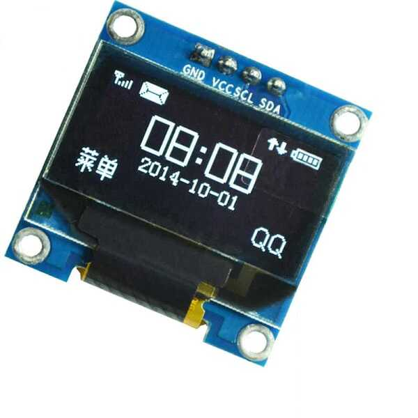 0.96 inch I2C OLED Ekran 128x64-Beyaz-White