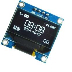 Grafik LCD - 0.96 inch I2C OLED Ekran 128x64-Beyaz-White