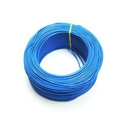 100 Metre Çok Damarlı Montaj Kablosu 24 AWG - Mavi - Thumbnail