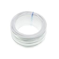 100 Metre Tek Damarlı Montaj Kablosu 24 AWG - Beyaz - Thumbnail