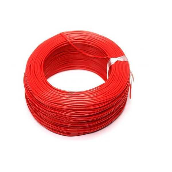 100 Metre Tek Damarlı Montaj Kablosu 24 AWG - Kırmızı