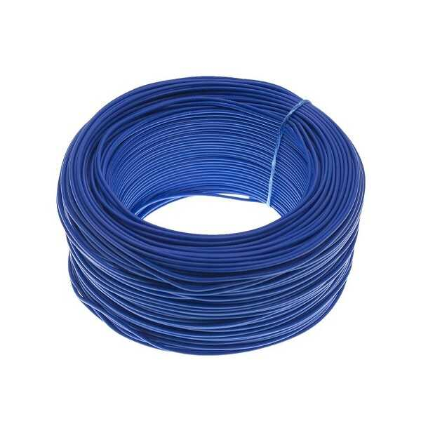 100 Metre Tek Damarlı Montaj Kablosu 24 AWG - Mavi