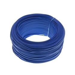Robolink - 100 Metre Tek Damarlı Montaj Kablosu 24 AWG - Mavi