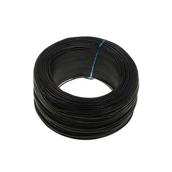 100 Metre Tek Damarlı Montaj Kablosu 24 AWG - Siyah