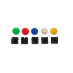 12x12x7.3mm Push Buton ve Kapak Seti - Thumbnail