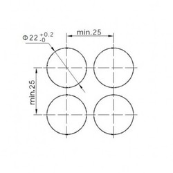 16-22 mm Kırmızı Kalıcı Anahtar 1NO/1NC - Thumbnail