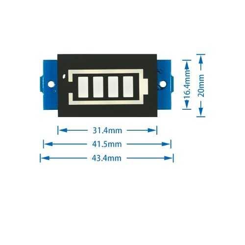 1S Lityum Batarya Kapasite Göstergesi Modülü