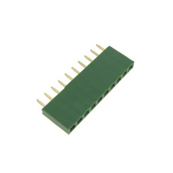 Header - 1x10 Pin Dişi Header - Yeşil