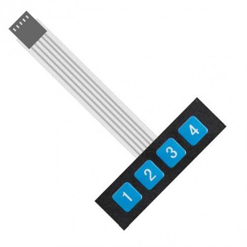 Arduino Uyumlu Sensör - Modül - 1X4 Membran Tuş Takımı