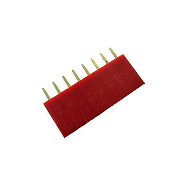1x8 Pin Dişi Header - Kırmızı