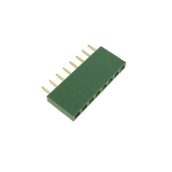 1x8 Pin Dişi Header - Yeşil