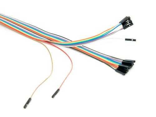 20 Pin Ayrılabilen Dişi-Dişi Jumper Kablo-200mm