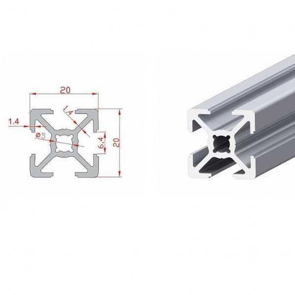 20x20 Sigma Profil-Kanal 6 - 390mm