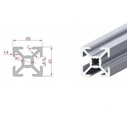 20x20 Sigma Profil-Kanal 6 - 370mm - Thumbnail