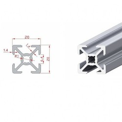 20x20 Sigma Profil-Kanal 6 - 440mm - Thumbnail