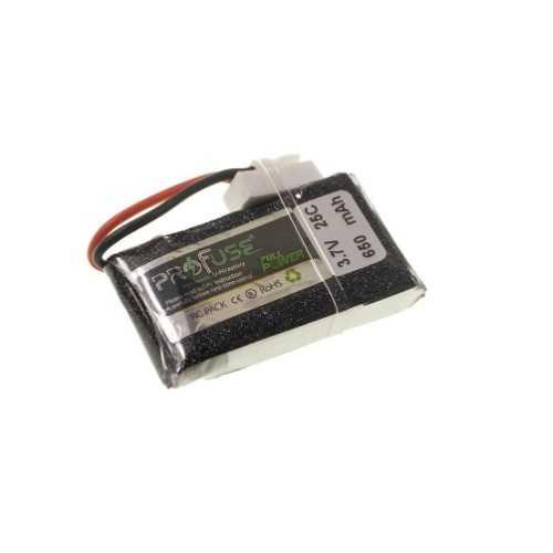 3.7V 1S Lipo Batarya 650mAh 25C