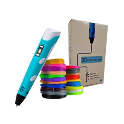 3DPen Baskı Kalemi - Full Set - Mavi - Thumbnail