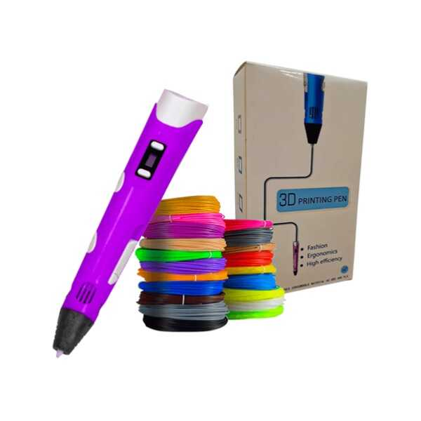 3DPen Baskı Kalemi - Full Set - Mor