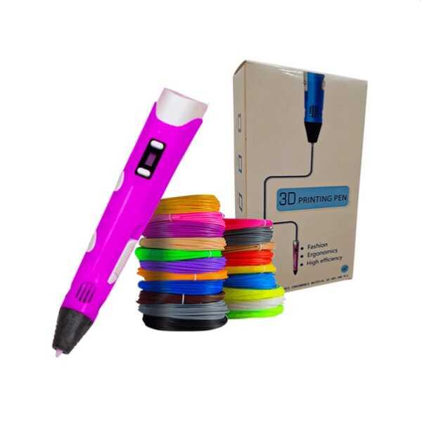 3D Kalem Yazıcı - 3DPen Baskı Kalemi - Full Set - Pembe
