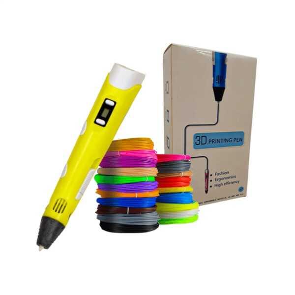 3DPen Baskı Kalemi - Full Set - Sarı