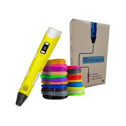 3DPen Baskı Kalemi - Full Set - Sarı - Thumbnail