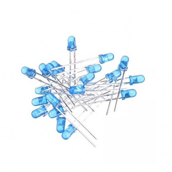 3mm Mavi Led - 10 Adet