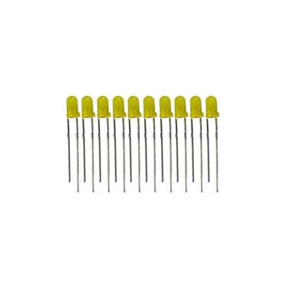 3mm Sarı Led - 10 Adet