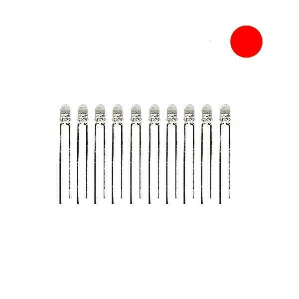 3mm Şeffaf Kırmızı Led - 10 Adet
