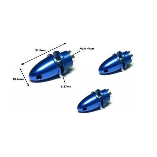 4 mm Delikli Mavi Metal Pervane Adaptörü