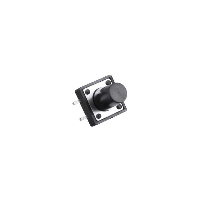 4 Pinli Push Buton-Siyah-12x12x12mm
