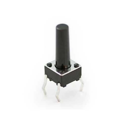 Buton - 4 Pinli Tact Buton - Siyah (6x6x14mm)