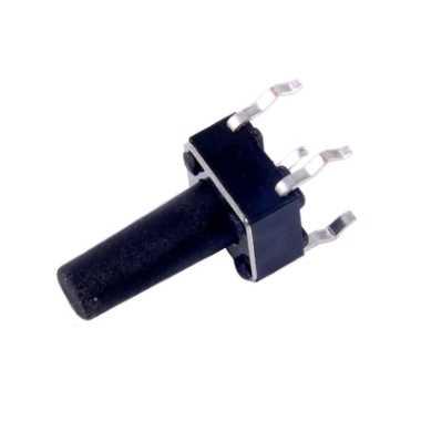 4 Pinli Tact Buton - Siyah (6x6x14mm)