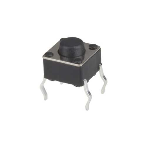 4 Pinli Tact Buton - Siyah (6x6x5mm)