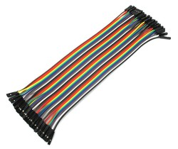 40 Pin Ayrılabilen Dişi-Dişi Jumper Kablo-100mm - Thumbnail