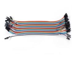 40 Pin Ayrılabilen Dişi-Dişi Jumper Kablo-300mm - Thumbnail