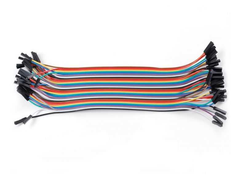 40 Pin Ayrılabilen Dişi-Dişi Jumper Kablo-300mm
