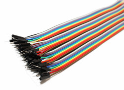 40 Pin Ayrılabilen Erkek-Erkek Jumper Kablo-200mm - Thumbnail