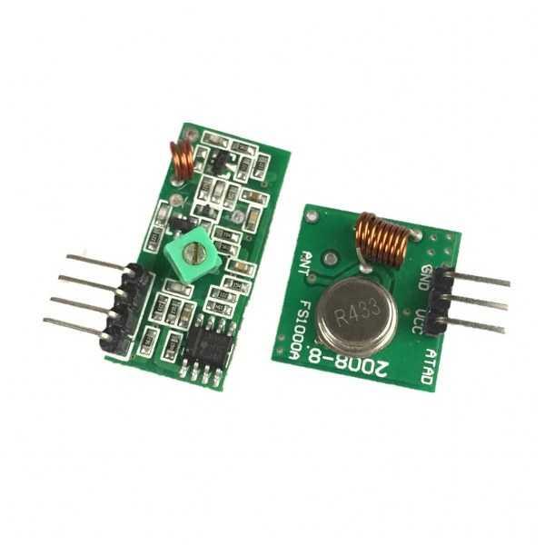 433 Mhz RF Kablosuz Alıcı Ve Verici Kiti