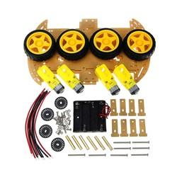 4WD Çok Amaçlı Mobil Robot Platformu - Şeffaf - Thumbnail