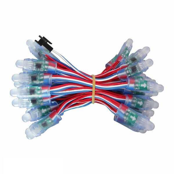 Led - 50'li Peşpeşe Eklenebilir Adreslenebilir RGB Led (WS2811 Sürücülü)