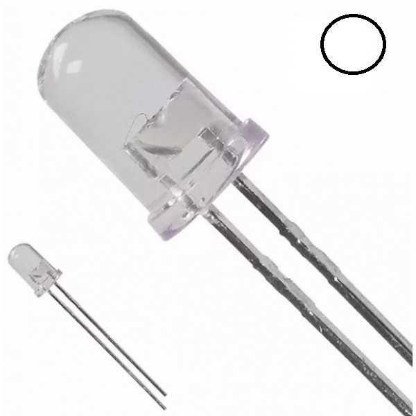 Led - 5mm Beyaz Led - 10 Adet
