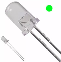 5mm Şeffaf Yeşil Led - 10 Adet - Thumbnail
