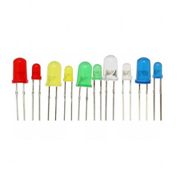 5mm ve 3mm LED Seti-5 Renk-200 Adet