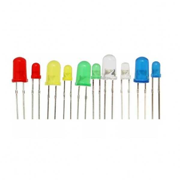Led - 5mm ve 3mm LED Seti-5 Renk-200 Adet