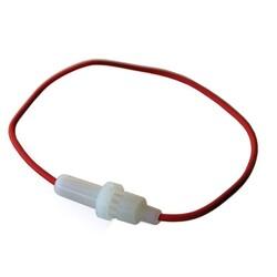 Sigorta - Sigorta Yuvası - 5x20 Kablolu Sigorta Yuvası - Beyaz