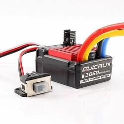 60A 2S-3S Hobbywing New Quicrun 1/10 RC Araba Fırçalı Motor ESC - Thumbnail