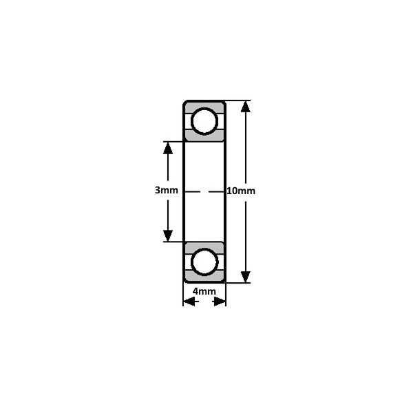 623ZZ Minyatür Rulman