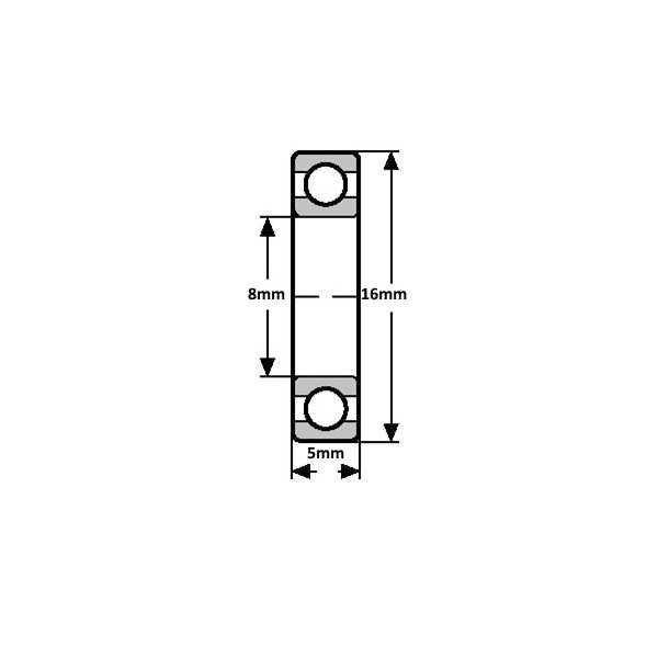 Rulman - 688ZZ Minyatür Rulman